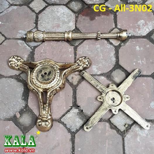 Chân bàn Kala gang đúc ba nhánh siêu đẹp