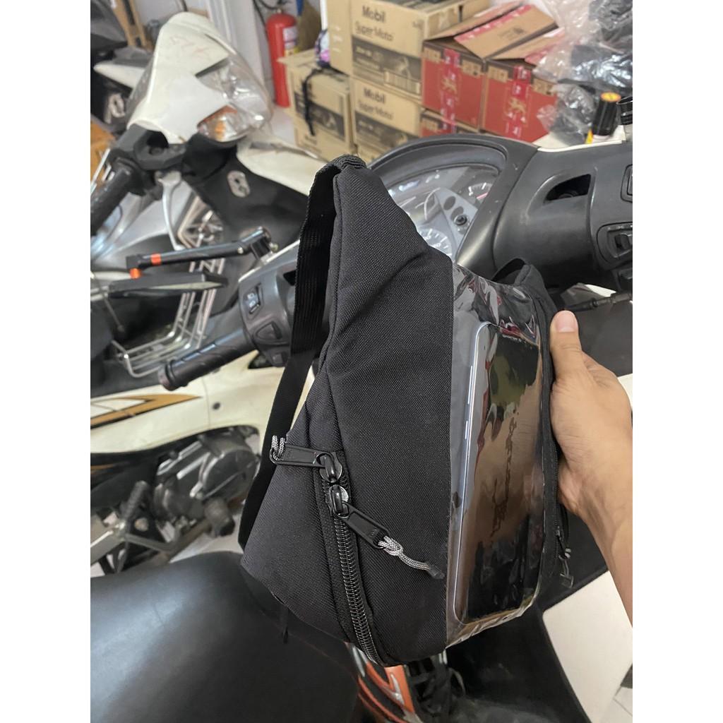 Túi Treo Đầu Ghi Đông Xe Máy Chiều Dọc Xem Google Map, Chứa Đồ, Chạy Grab, Nowship, GoJet