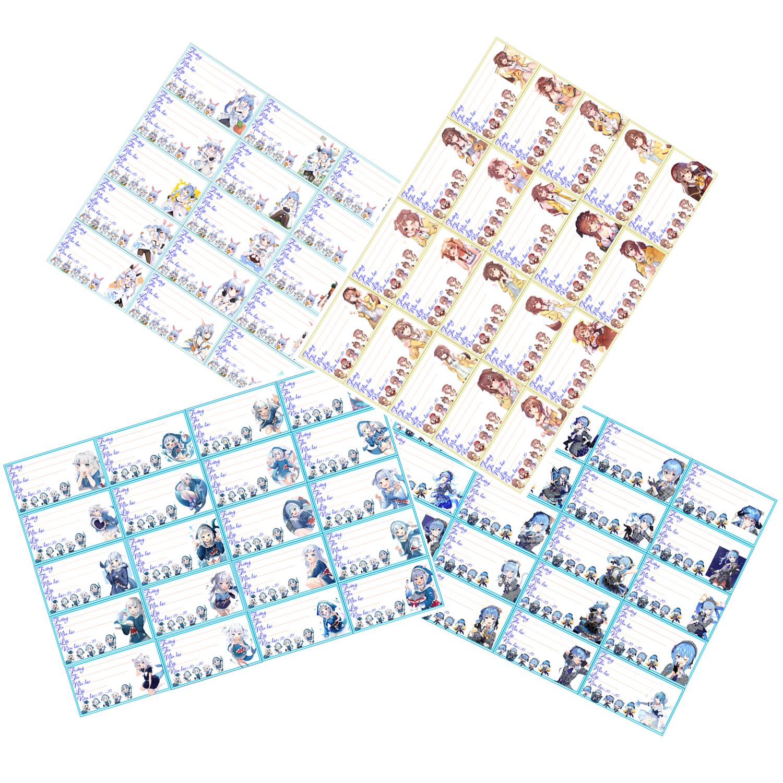 Nhãn vở set 40 hình usada pekora-Hololive