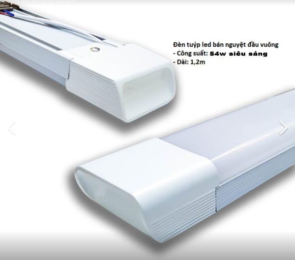 Đèn tuýp Led Monsky bán nguyệt đầu vuông 54W siêu sáng ánh sáng trắng