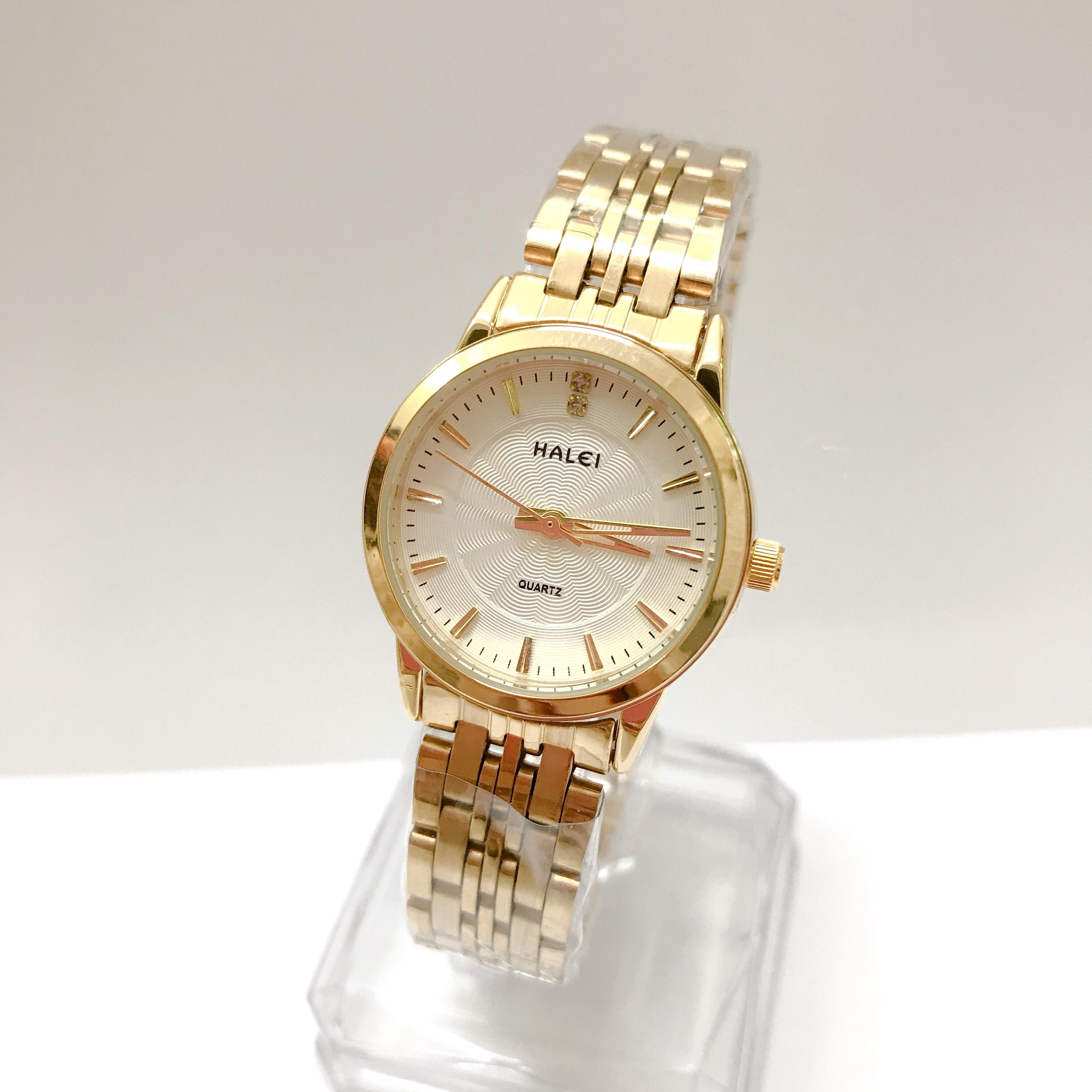 Đồng hồ Nữ Halei cao cấp - HL552 Dây vàng mặt trắng