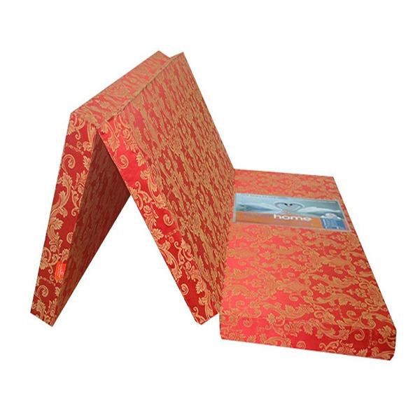 Nệm Bông Ép Gấp 3 (1m55 x 1m95 x 5cm) - Giao Màu Ngẫu Nhiên