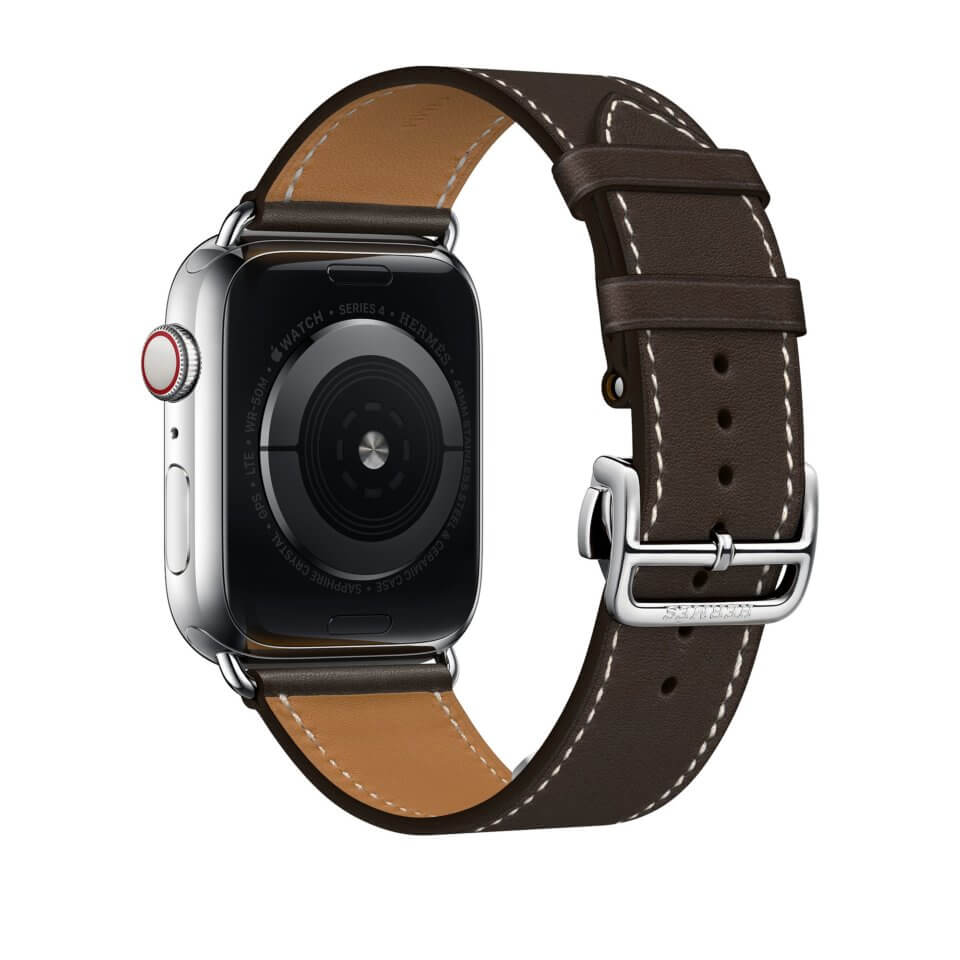 Dây đeo thay thế cho Apple Watch kiểu dáng da cao cấp size 38mm _ đen_
