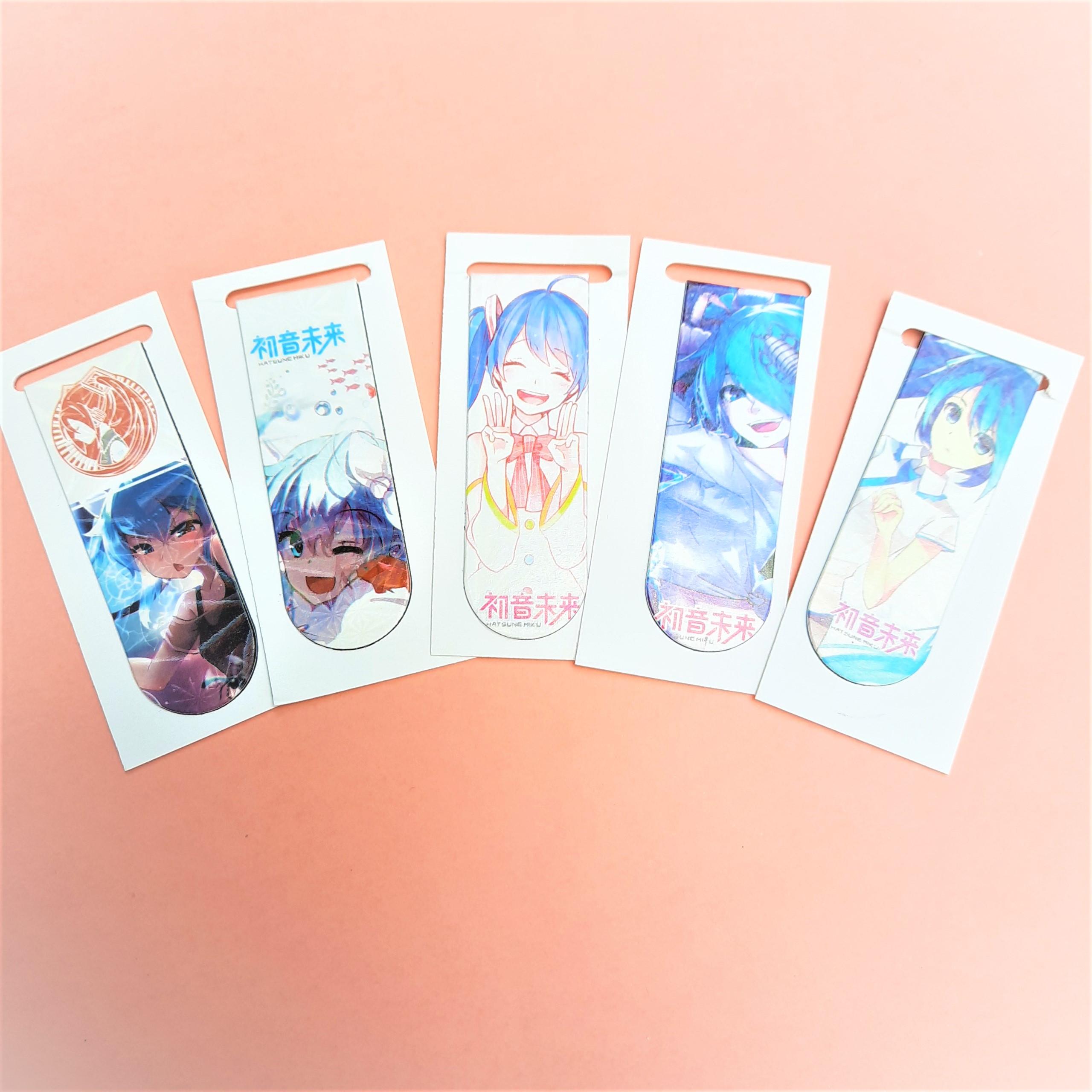 Combo 5Bookmark Nam Châm Đánh Dấu Sách - Anime (Mẫu Ngẫu Nhiên)