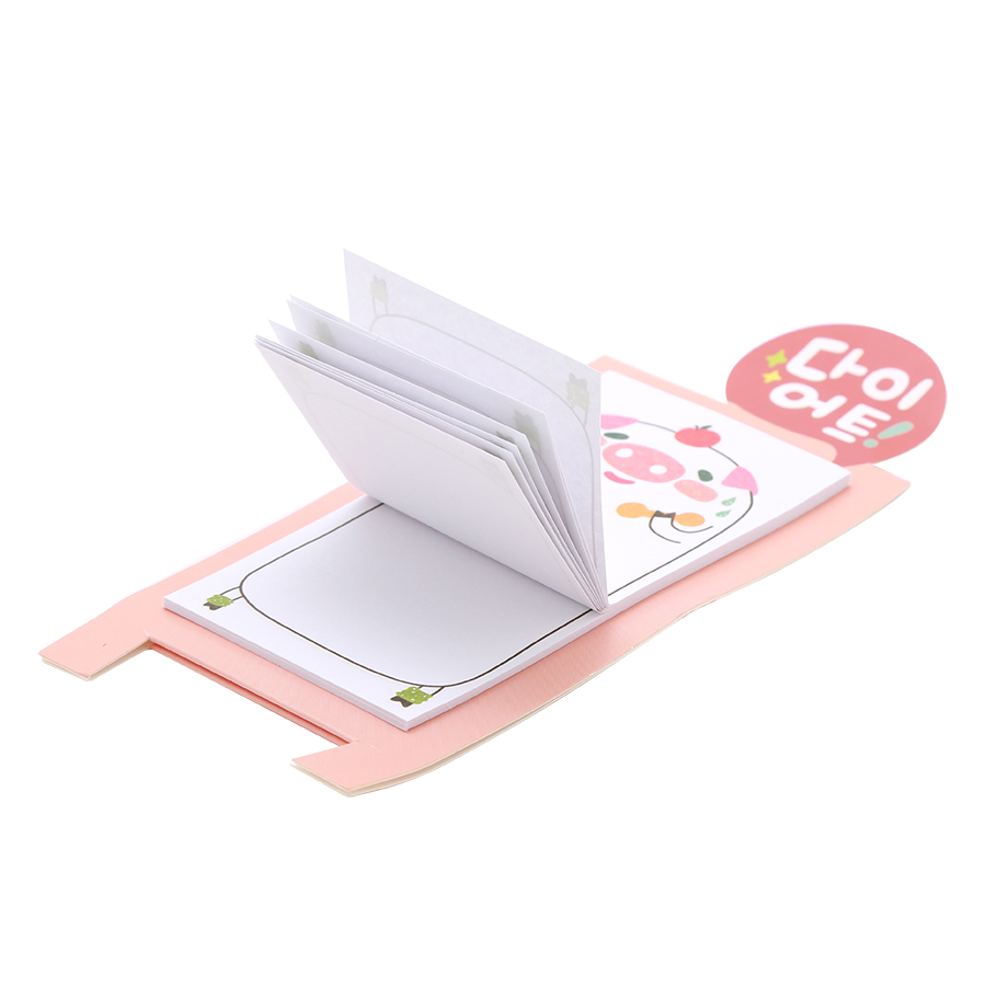 Giấy Note Dạng Đứng (8.4 x 4.3cm) - Con Heo