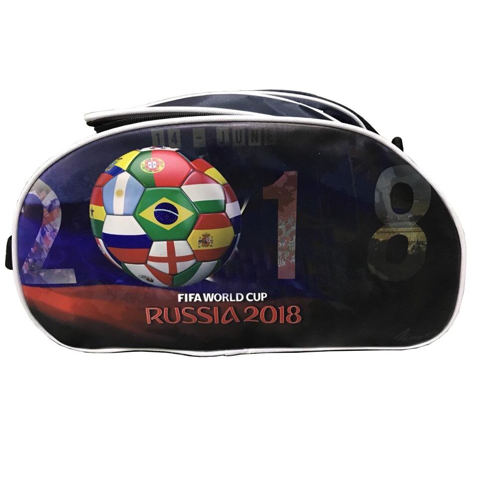Túi đựng giày thể thao 2 ngăn 3D World Cup 2018 - Màu Ngẫu Nhiên
