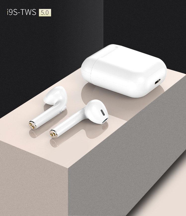 Tai nghe i9s Fullbox chính hãng, kết nối Bluetooth 5.0 tiết kiệm pin, nút điều khiển thông minh - Hàng chính hãng