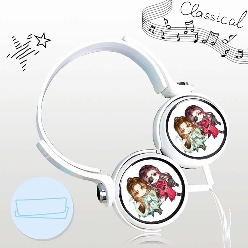 Tai nghe THIÊN QUAN TỨ PHÚC cắm dây có mic anime chibi mẫu ngẫu nhiên