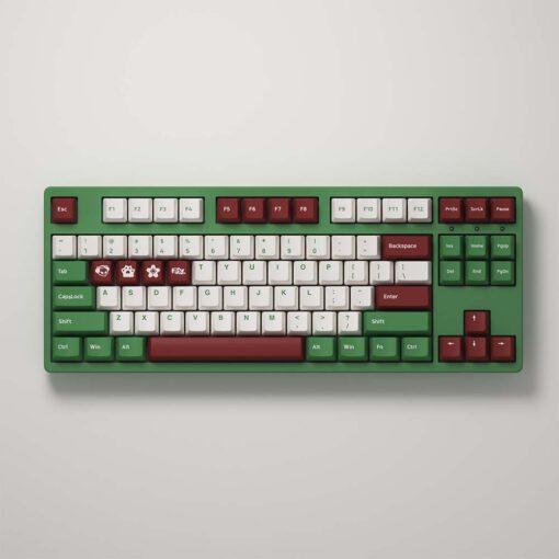 Bàn phím cơ AKKO 3087 v2 DS Matcha Red Bean (Akko switch v2) - Hàng Chính Hãng