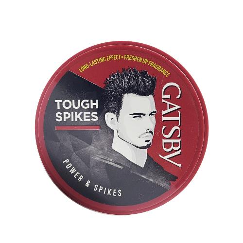 Wax Tạo Kiểu Tóc Tough Spikes Dựng Đứng Giữ Kiểu Power & Spikes + Tặng Reuzel Grooming Tonic - Chính hãng - GATSBY STYLING WAX 75G