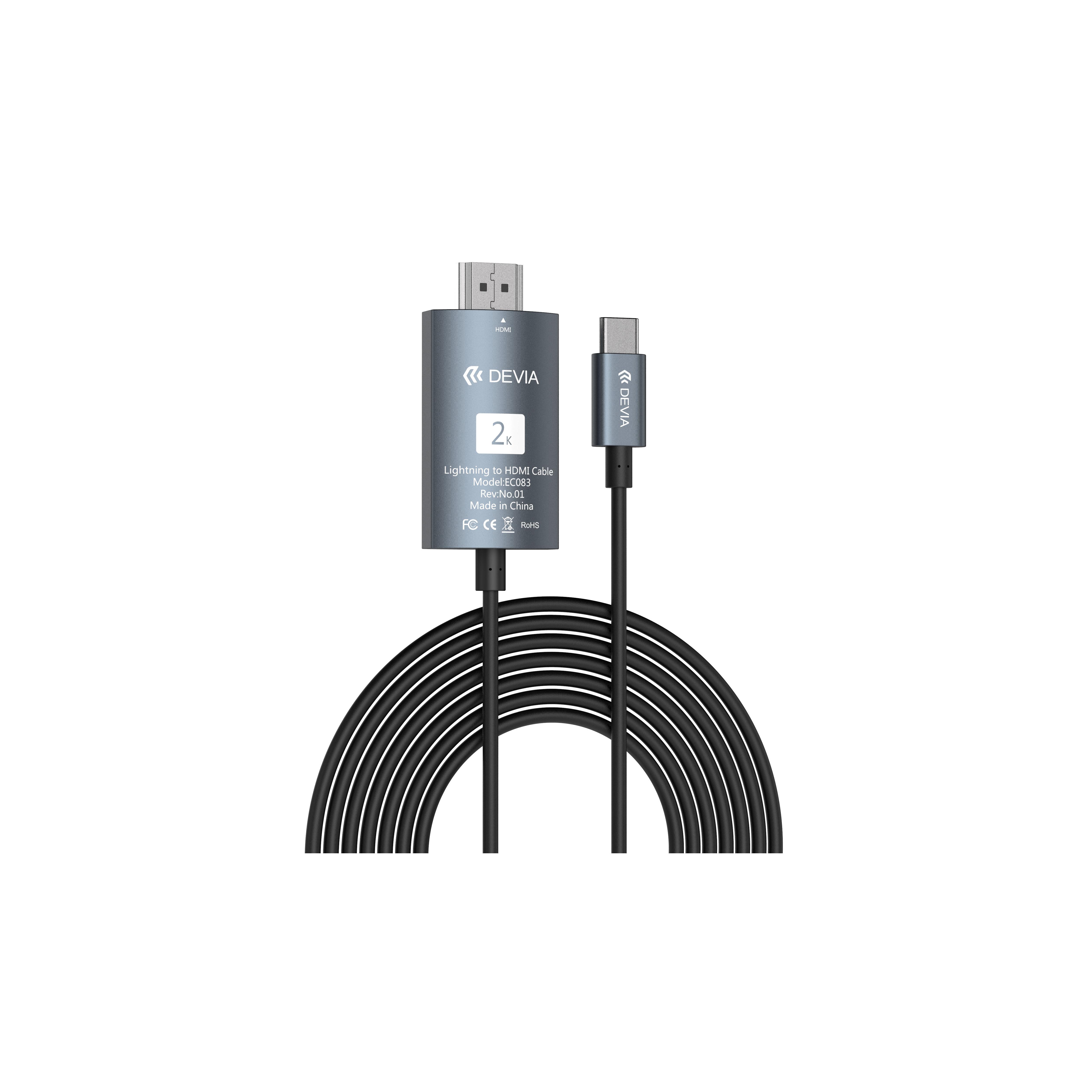 Cáp chuyển đổi Devia Storm HDMI to TypeC - Hàng chính hãng