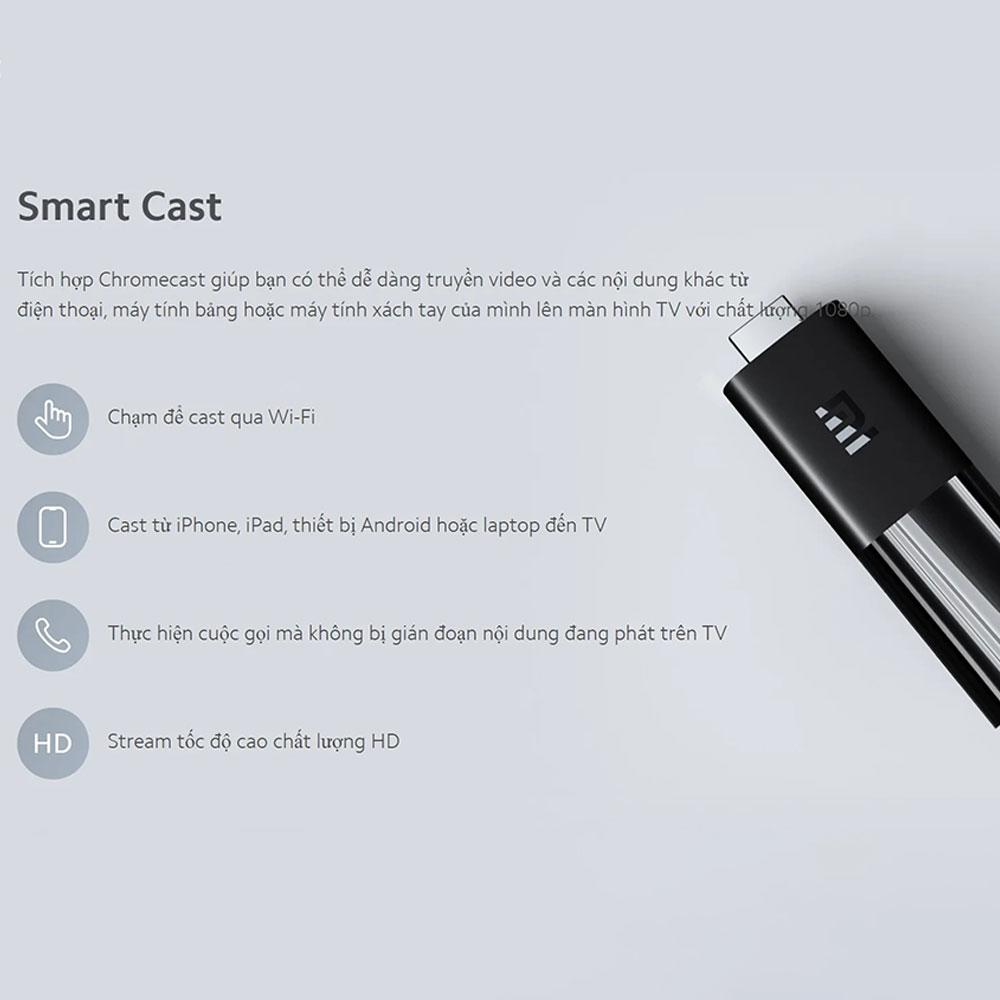 Android TV Box Xiaomi Mi TV Stick tìm kiếm bằng giọng nói, hỗ trợ tiếng việt - Hàng Chính Hãng