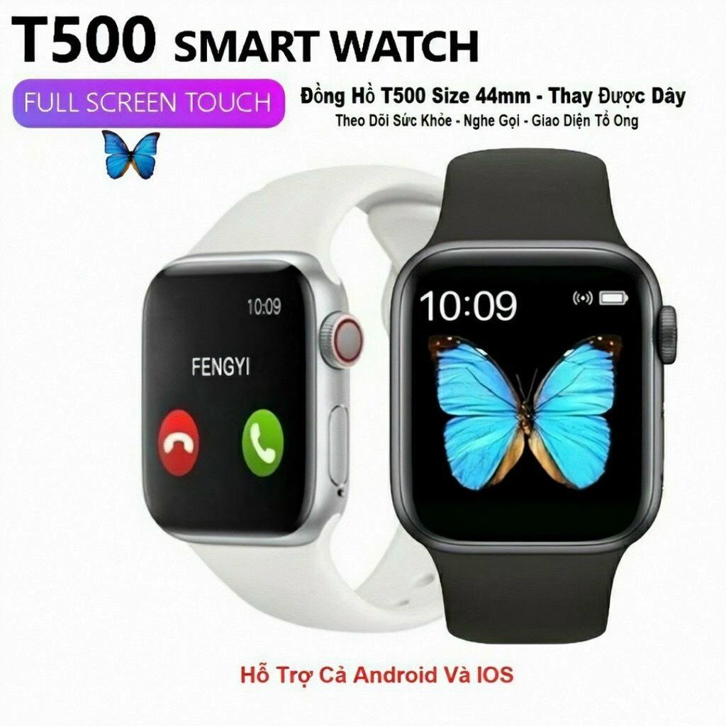 Đồng hồ thông minh Smart watch T500 Seri 6 full box, thay hình nền tùy ý, nghe gọi, nghe nhạc