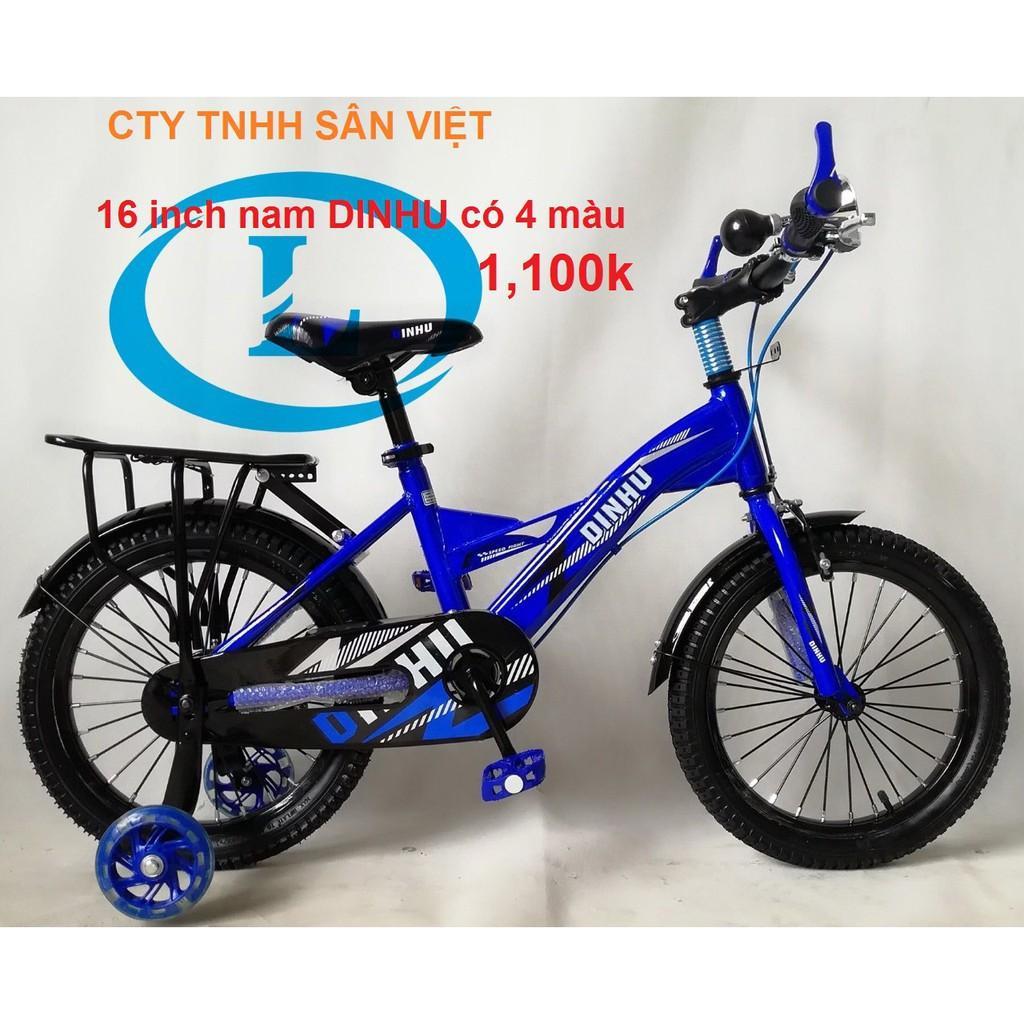 xe đạp 16 inch trẻ em đủ phụ kiện bánh xe phụ có đèn