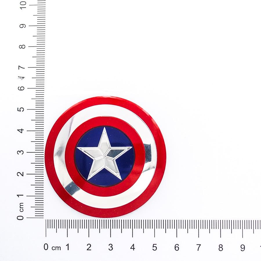 Sticker metal dán mâm xe hơi tròn 5.5cm - Captain miếng lẻ