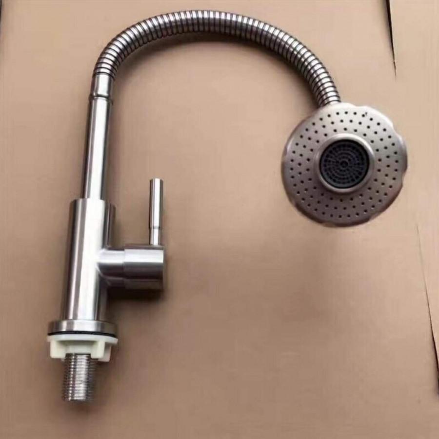 Vòi rửa chén bát cần bẻ inox 304 mờ