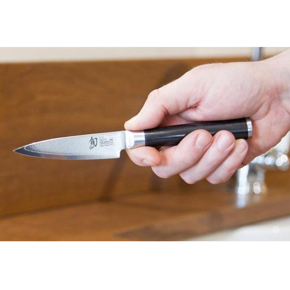Dao bếp Nhật cao cấp Shun Classic Paring thép Damascus 69 lớp - Dao gọt tỉa hoa quả DM0700 (89mm) - Dao bếp Nhật chính hãng