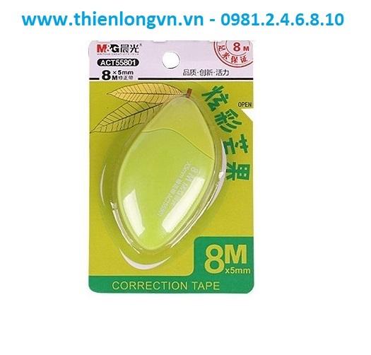Xóa băng - Xóa kéo 8m hình quả xoài M&G - ACT55801 màu xanh lá