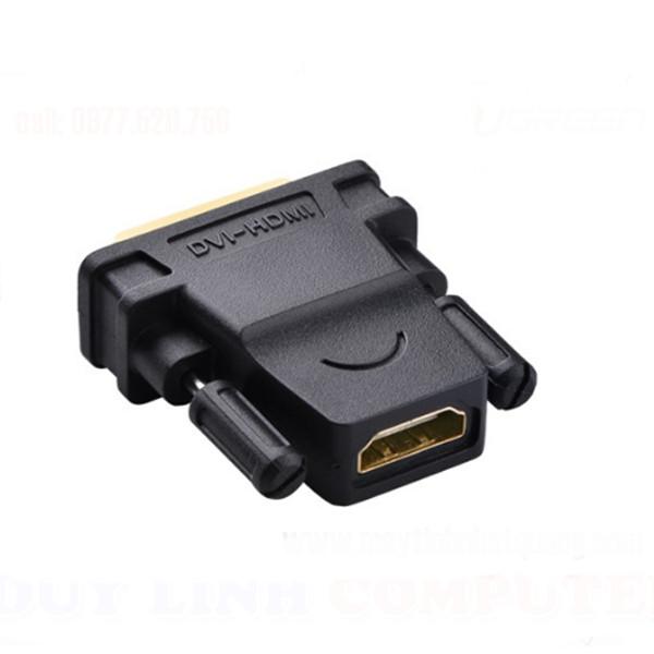 Đầu chuyển qua lại giữa DVI (24+1) dương sang HDMI âm (hỗ trợ 1080P)