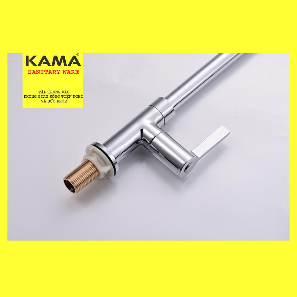Vòi rửa chén lạnh  KAMA SYLK-01 đồng mạ crome cao cấp chính hãng KAMA - Phù hợp với mọi bồn rửa chén - MẪU MỚI