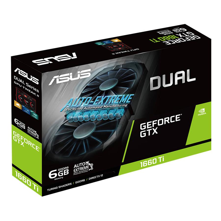 Card Màn Hình VGA ASUS DUAL-GTX1660TI-6G GDDR6 6GB 192-bit - Hàng Chính Hãng