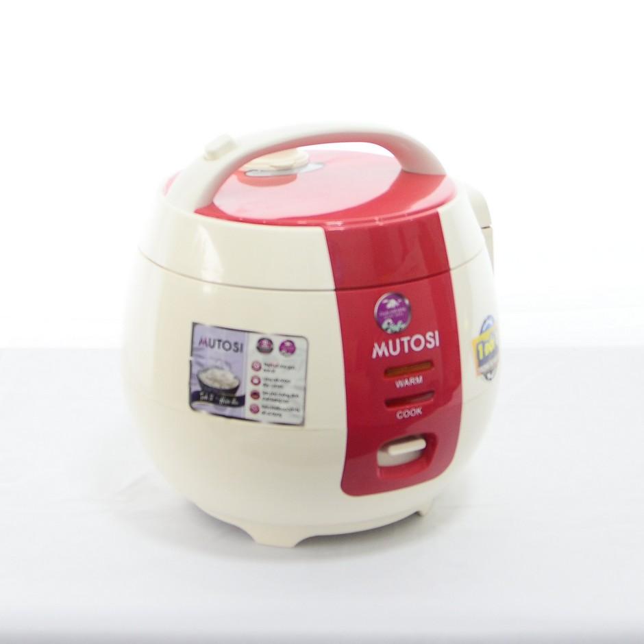 Nồi cơm điện chống dính 1.2L Mutosi MR-12 (Đỏ) - Hàng chính hãng