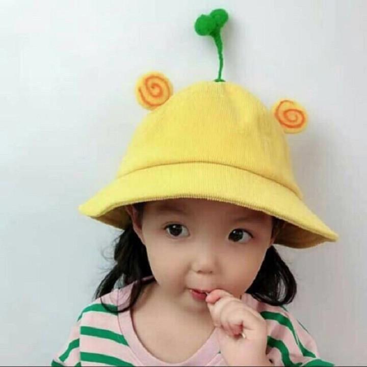 Mũ bucket có  họa tiết mầm cây dễ thương