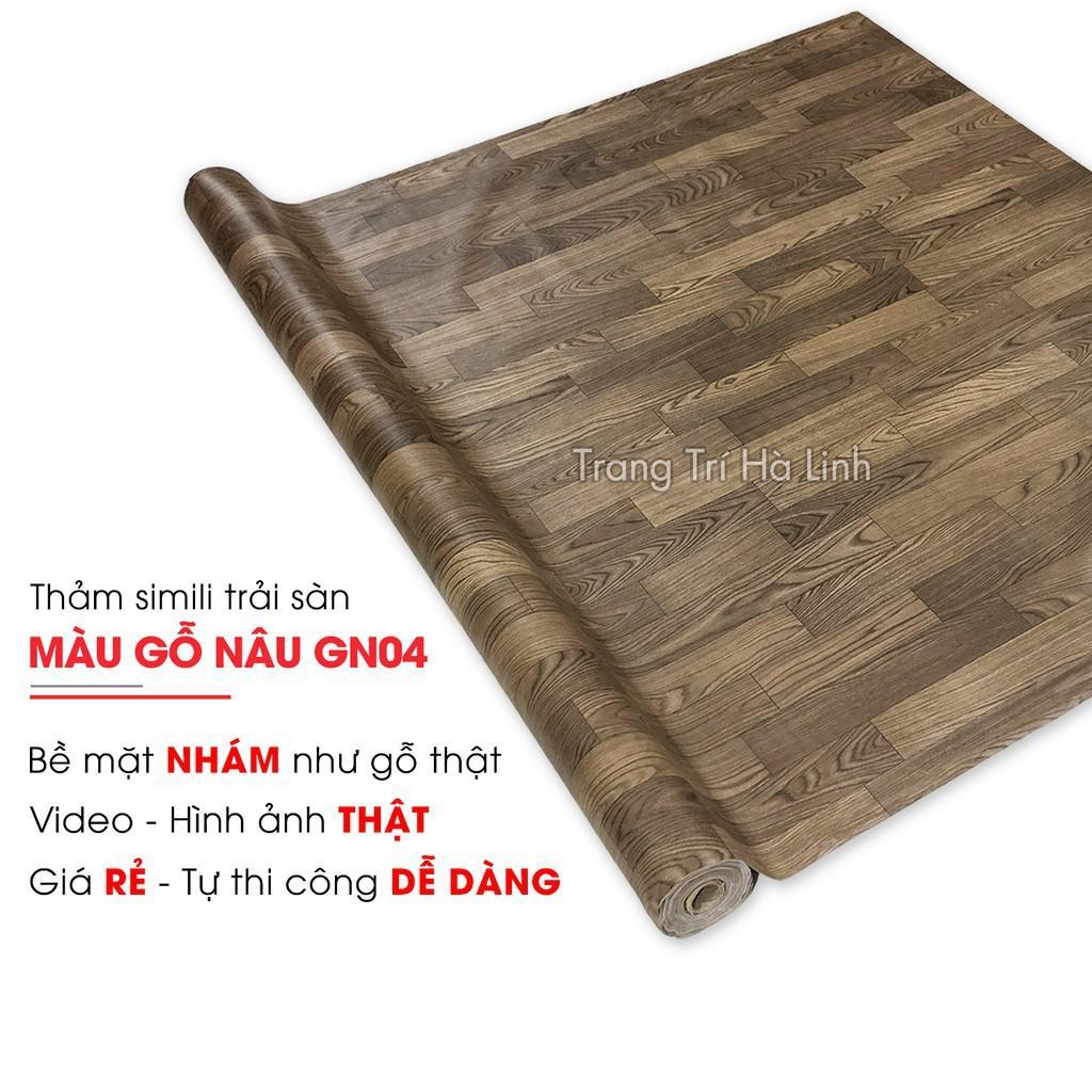 Thảm nhựa trải sàn vân gỗ , simili trải sàn hoa văn các loại dày 0.5mm chống nước đẹp giá rẻ
