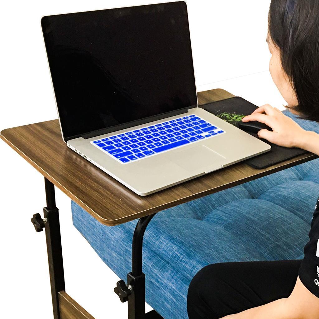 Bàn Kê Laptop Di Động ,Bàn Làm Việc Đa Năng , Bàn Học Sinh Có Thể Thay Đổi Chiều Cao, Có Bánh Xe Di Chuyển, Chất Liệu Gỗ Ép, Khung Sắt Chắc Chắn, Thông Minh, Tiện Lợi - 4417 - Vân Gỗ