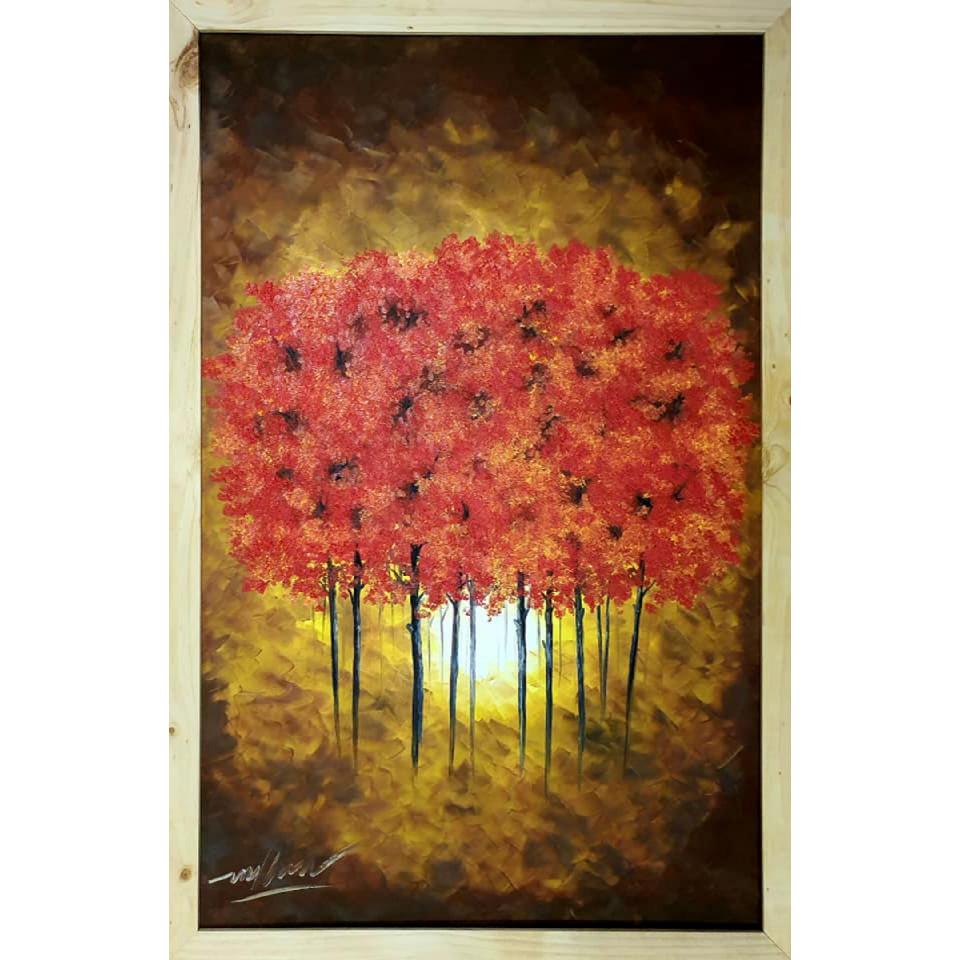 Tranh sơn dầu sáng tác vẽ tay: Nguồn Sáng