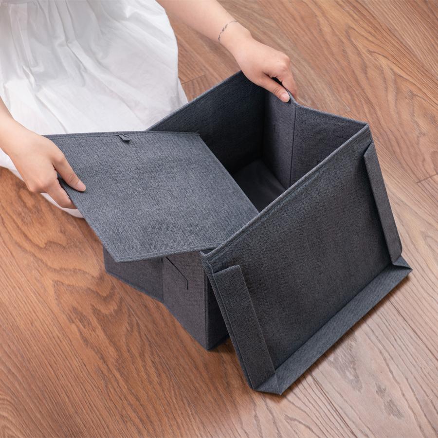 Combo 2 hộp đựng đồ đa năng có nắp - 1PF - MA04 - phong cách Nhật tinh tế, sang trọng, gọn gàng 38x25x25cm