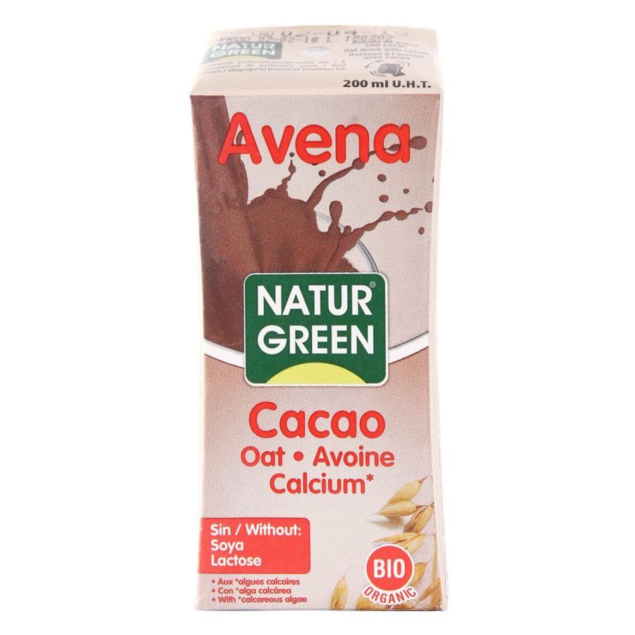 Nước Yến Mạch Cacao Hữu Cơ Naturgreen 200ml