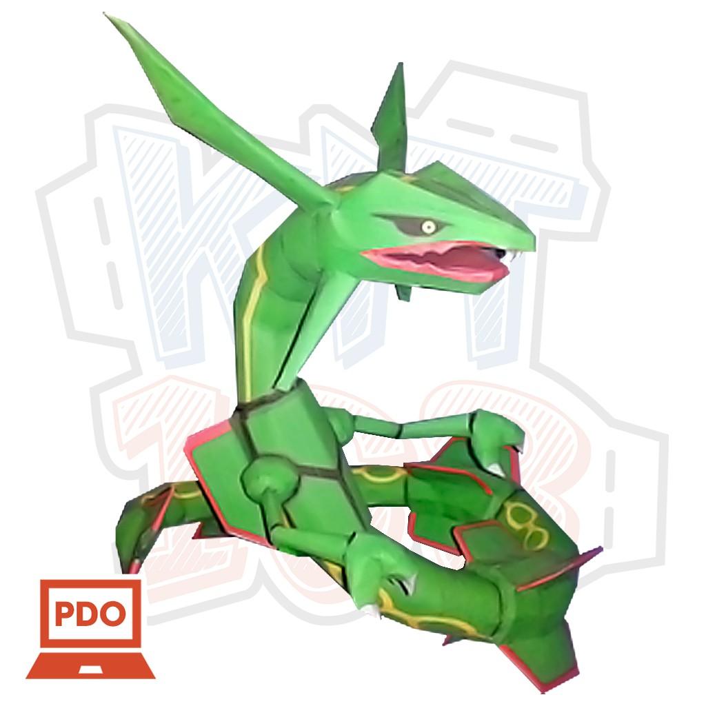 Mô hình giấy Anime Pokemon Rayquaza