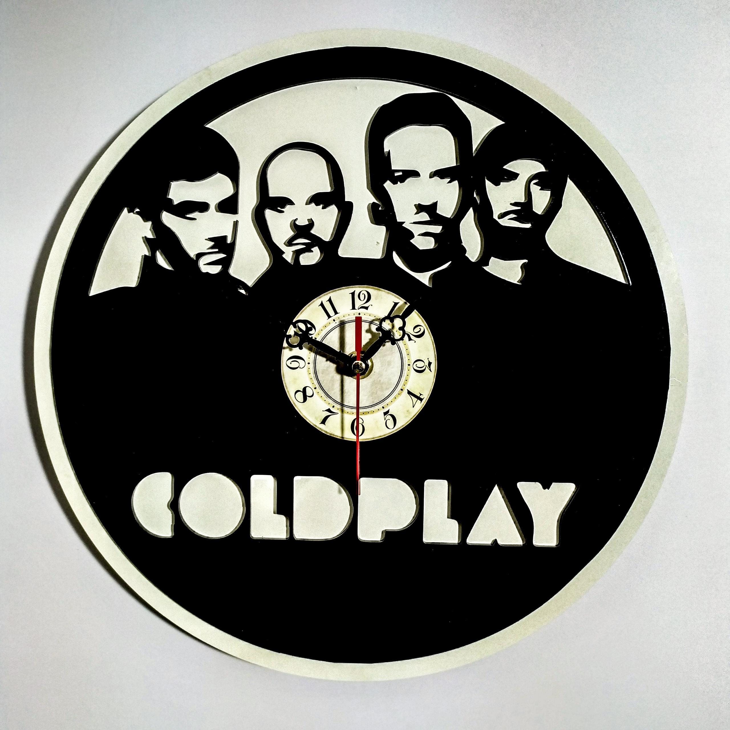 Đồng hồ treo tường độc đáo - ban nhạc Coldplay