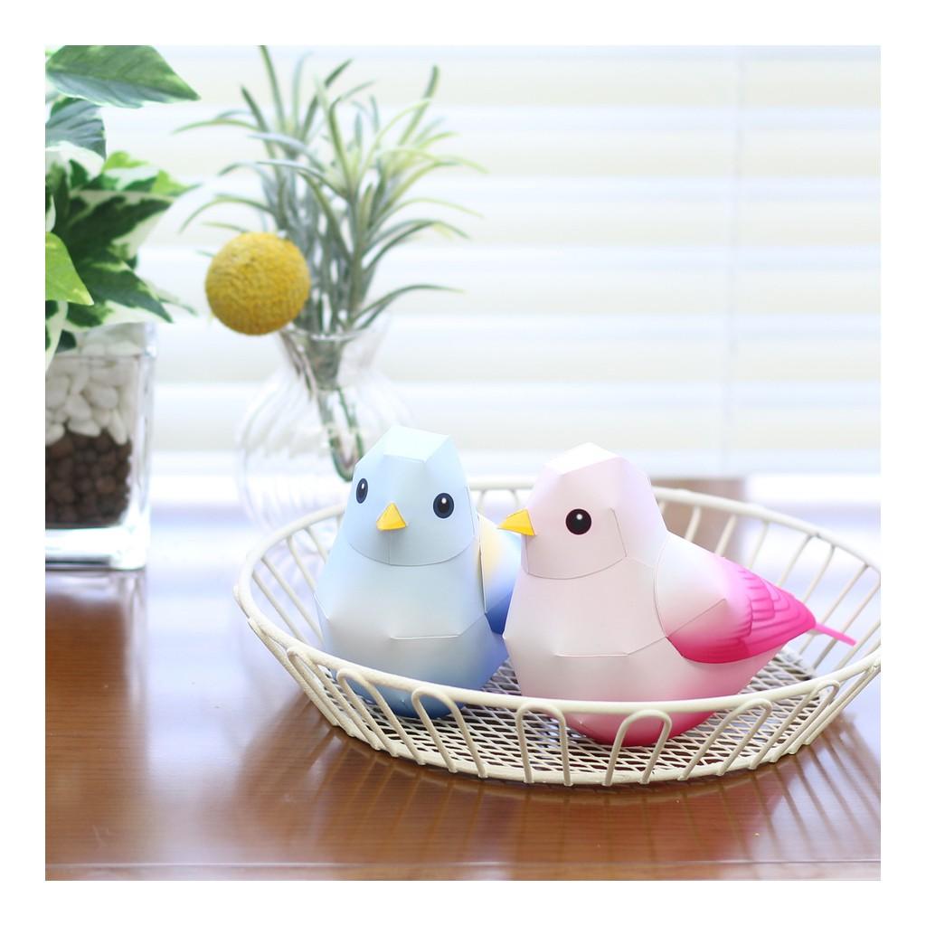 Mô hình giấy động vật Chim con
