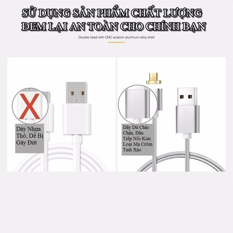 Cáp Sạc Từ Android Elough Hít Nam Châm