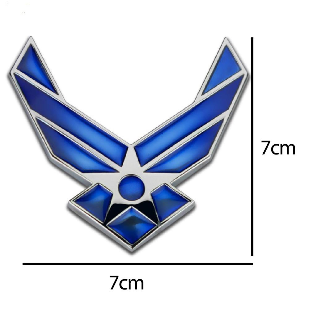 Biểu tượng Không Quân Hoa Kỳ USAF - Sticker metal 3D hình dán kim loại cao cấp US ARMY