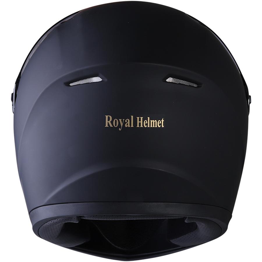 Nón bảo hiểm nguyên đầu (Fullface) Royal M136 Đen Mờ