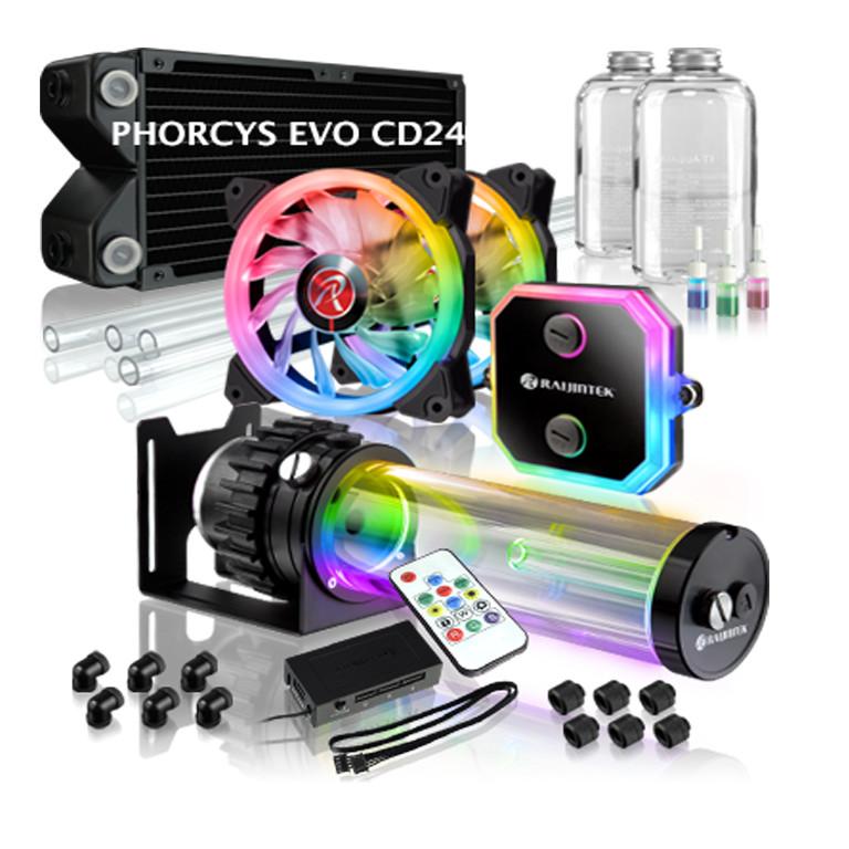 Tản nhiệt custom Raijintek PHORCYS EVO CD240 - Hàng Chính Hãng