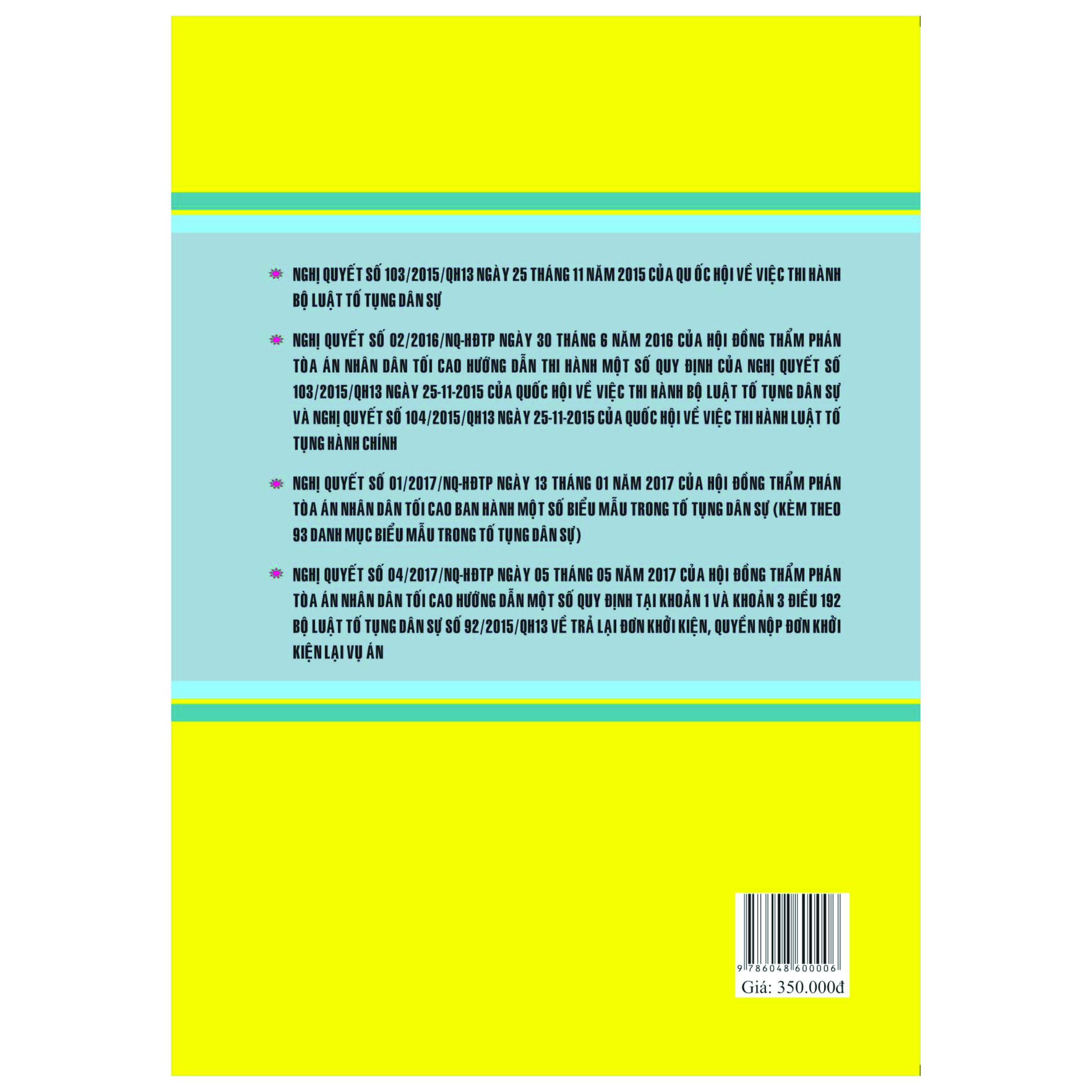 Bộ Luật Tố Tụng Dân Sự Năm 2015 và Văn Bản Hướng Dẫn Thi Hành