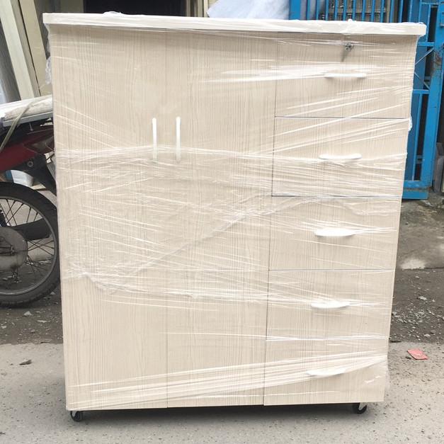 Tủ quần áo nhựa đài loan 2 cánh 5 ngăn _TN25-01