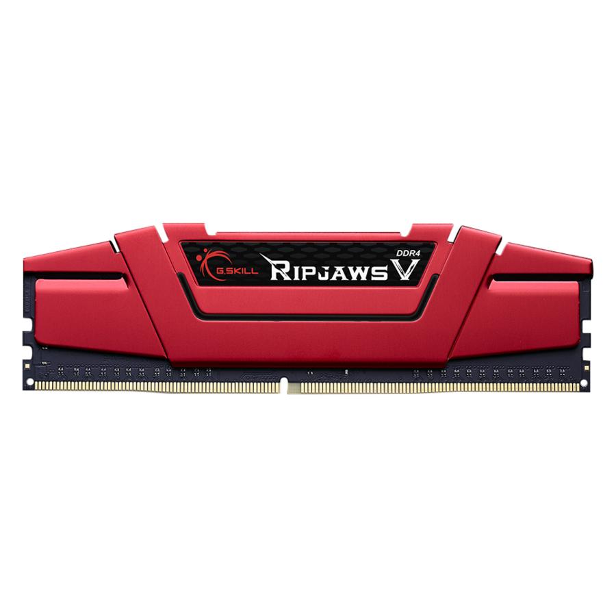 Bộ 2 Thanh RAM PC G.Skill 16GB (8GBx2) Ripjaws Tản Nhiệt DDR4 F4-2400C17D-16GVR - Hàng Chính Hãng