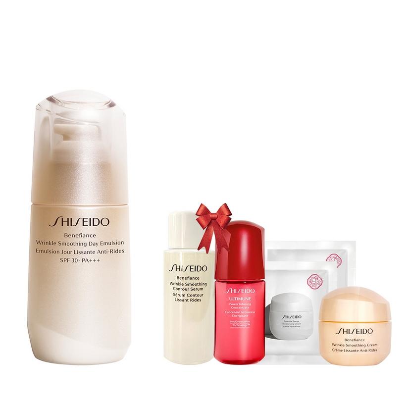 Bộ sản phẩm Sữa dưỡng da chống lão hóa ban ngày Shiseido Benefiance Wrinkle Smoothing Day Emulsion SPF 30 PA+++ 75ml