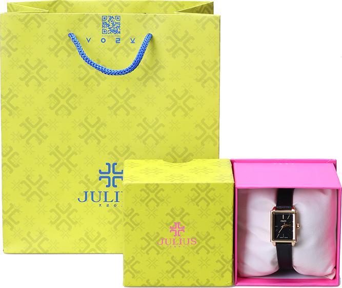 Đồng Hồ Nữ Julius Hàn Quốc JA-787 Mặt Chữ Nhật Dây Da