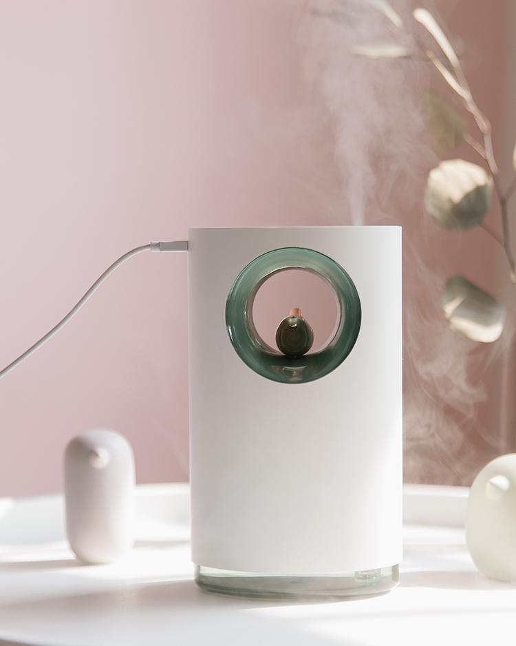 Máy phun sương tạo ẩm khuếch tán tinh dầu siêu âm có nhạc bird song music humidifier cao cấp