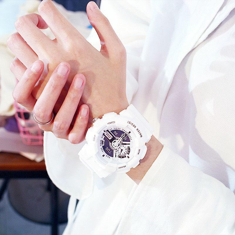 Đồng hồ thời trang nam nữ chạy kim giả điện tử cá tính DH108