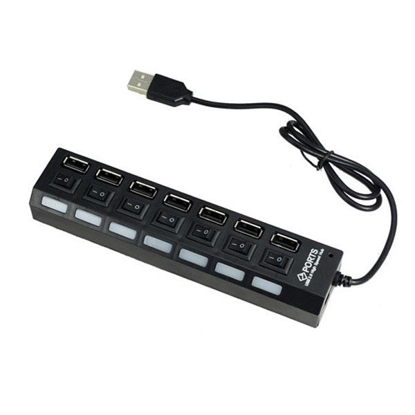 Hub USB 7p công tắc