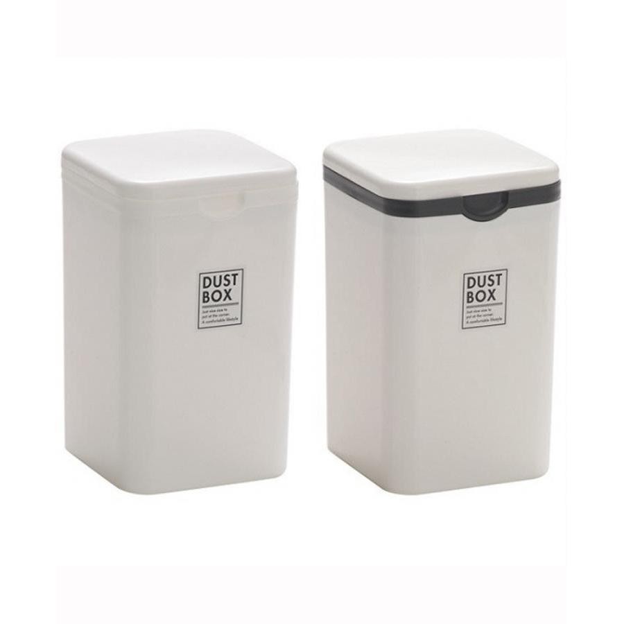 Combo Thùng đựng rác mini và Bàn chải ion vệ sinh lưỡi nội địa Nhật Bản