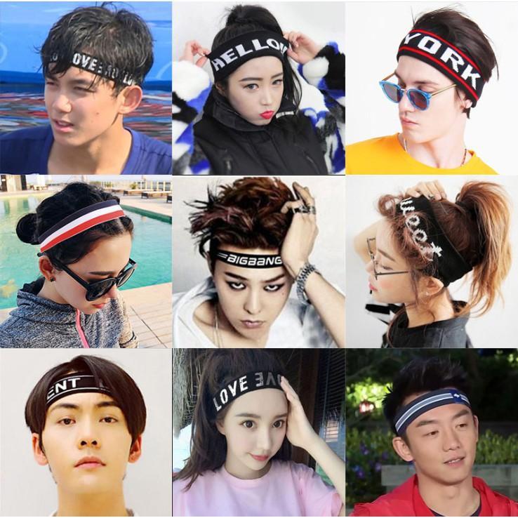 Băng đô Headband KPOP BTS, BIGBANG, băng đô thể thao nam nữ unisex TB37
