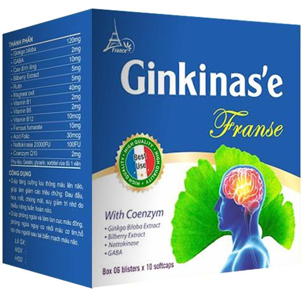 GINKINAS'EG FRANSE – Tuần hoàn não, ngăn ngừa tai biến mạch máu não